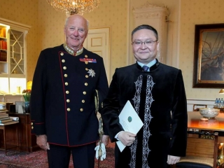 Ambassador of Kazakhstan presents credentials to the King of Norway
