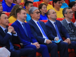 Kazakh President attends Youth Forum in Kostanay