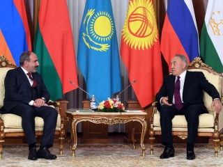 Nikol Pashinyan praises Nursultan Nazarbayev's contribution to integration processes development