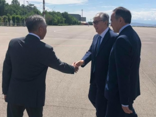 President arrived in Zhambyl region for working trip
