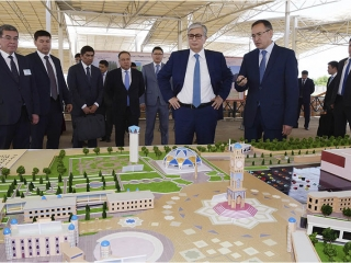 Kazakh President surveys Ancient Taraz archeological park