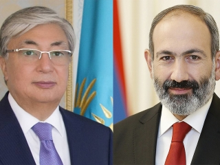 Kassym-Jomart Tokayev, Nikol Pashinyan talk over phone