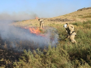 Steppe ablaze in Karaganda region