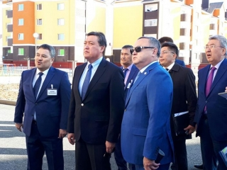 Kazakh PM arrives in Aktobe rgn