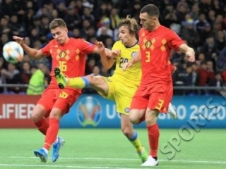 Euro 2020 Qualifiers: Kazakh team lost to footballers of Belgium