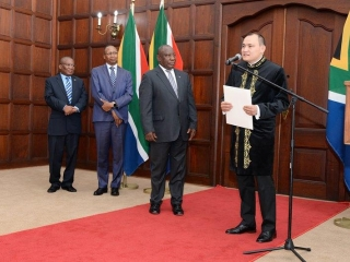 Kazakh Ambassador presents letters of credence to South African President