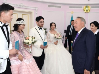 Elbasy visits new Wedding Palace and Public Service Center in Turkestan
