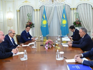 Nazarbayev meets with ex IAEA Director General and President of Global Security Institute