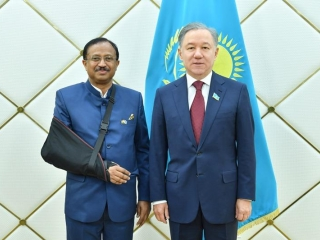 Majilis chair receives Indian Minister of State for External Affairs