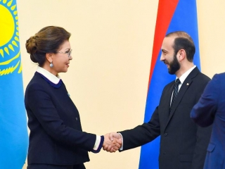 Kazakh Senate Speaker holds talks with Armenian counterpart