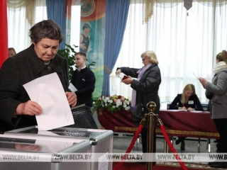 Preliminary voter turnover during parliamentary elections in Belarus at 77.22%