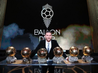 Football: Lionel Messi wins Ballon D'Or for sixth time