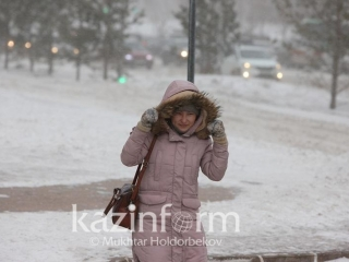 Blizzard and black ice in store for regions of Kazakhstan Friday