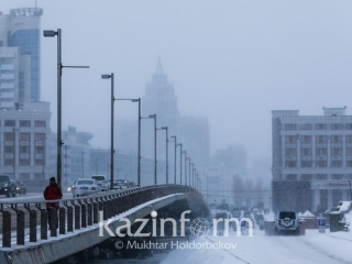 Rude wind, fog and black ice in store for Kazakhstan on Monday