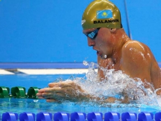 Kazakhstan's Balandin clinches silver at U.S. Open Swimming Championships