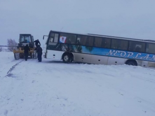 Hockey team bus drove into ditch in N Kazakhstan rgn