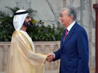 Kazakh President holds talks with Ruler of Dubai