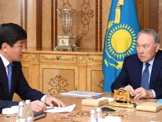 Nursultan Nazarbayev receives Bauyrzhan Baibek