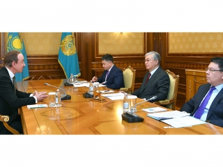 Kazakh President receives Air Astana President