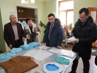 Medical masks production launched in Karaganda rgn