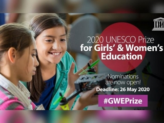 UNESCO Prize for Girls' and Women's Education 2020 accepting nominations