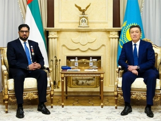PM Mamin bestows Dostyk Order to UAE Ambassador