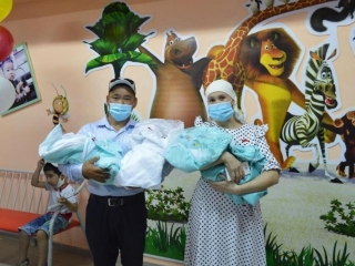 Woman gives birth to triplets in Kyzylorda region