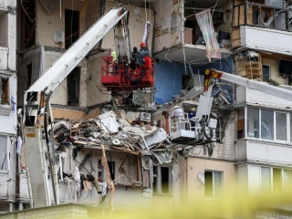 Five dead in Kyiv multi-storey building explosion