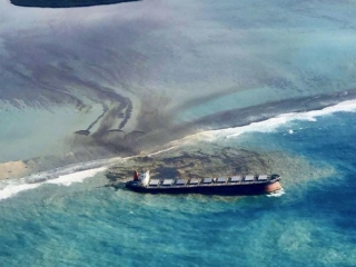 Mauritius declares emergency over oil leak from Japanese ship