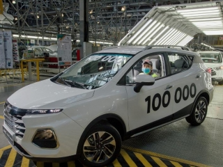 Automobile plant builds its 100 thousandth car in Kostanay