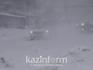 Heavy snowfall and blizzard to batter most Kazakhstan
