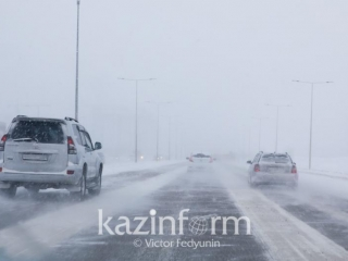 Roads closed in Kostanay region for poor visibility