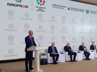 Kazakh Deputy PM Roman Sklyar partook in int'l exhibition Innoprom in Tashkent